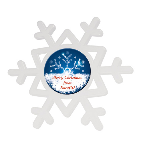 Snowflake in white-c