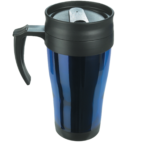 Coloured Thermo Mug in blue