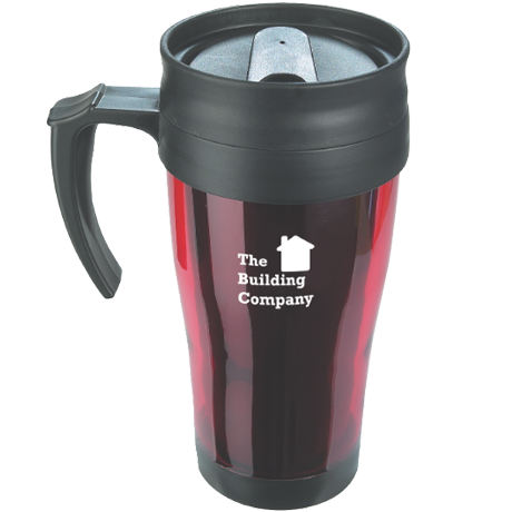 Coloured Thermo Mug in red
