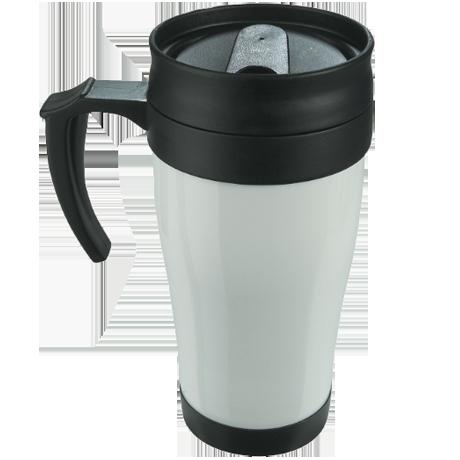 Coloured Thermo Mug in white