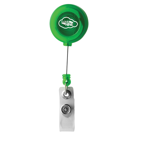 Retractable Pass Holder in green