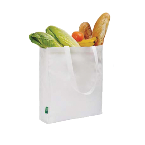 Eco Long Handle Shopper in white-1