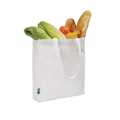 Eco Long Handle Shopper in white