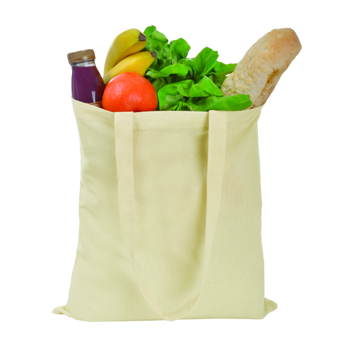 100% Cotton Shopper in natural