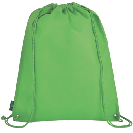 Eco-Friendly Drawstring Bag in green