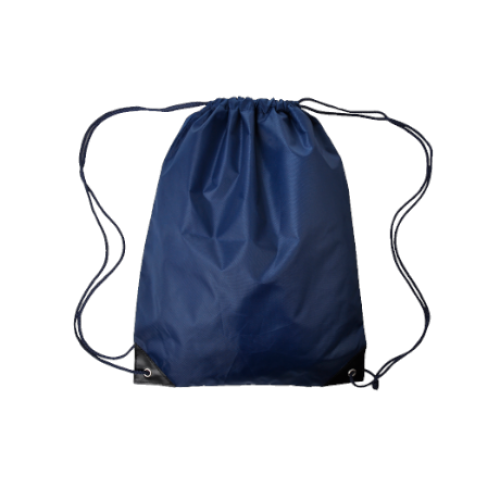 Economy Drawstring Bag in navy