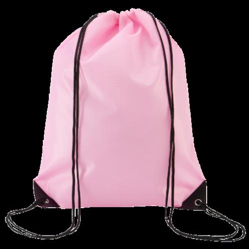 Economy Drawstring Bag in pink