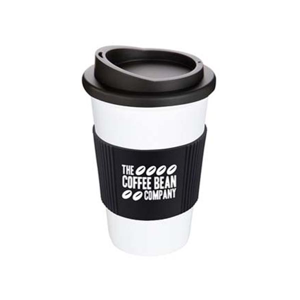 Americano Mug in white-mug-black-grip-and-lid