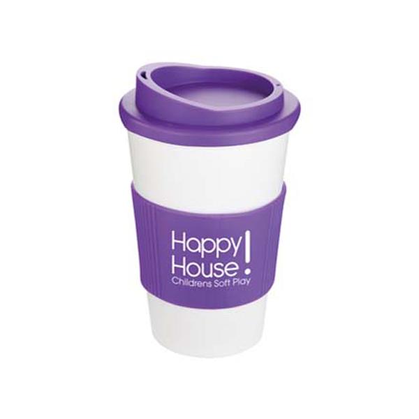 Americano Mug in white-mug-purple-grip-and-lid