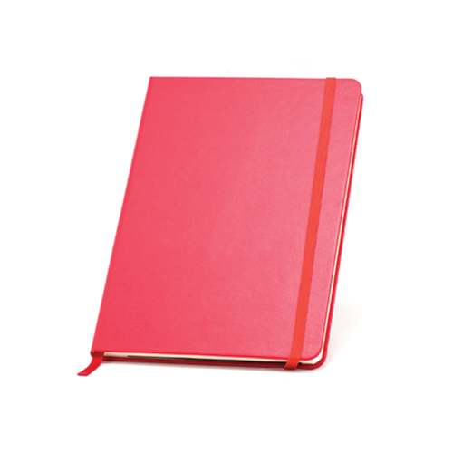 Hardbacked Notebook (A5) in red