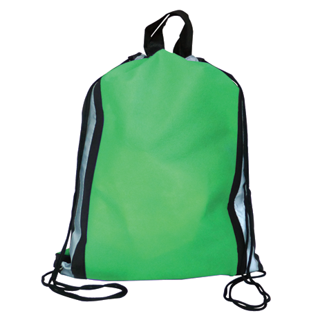 Reflector Drawstring Bag in green