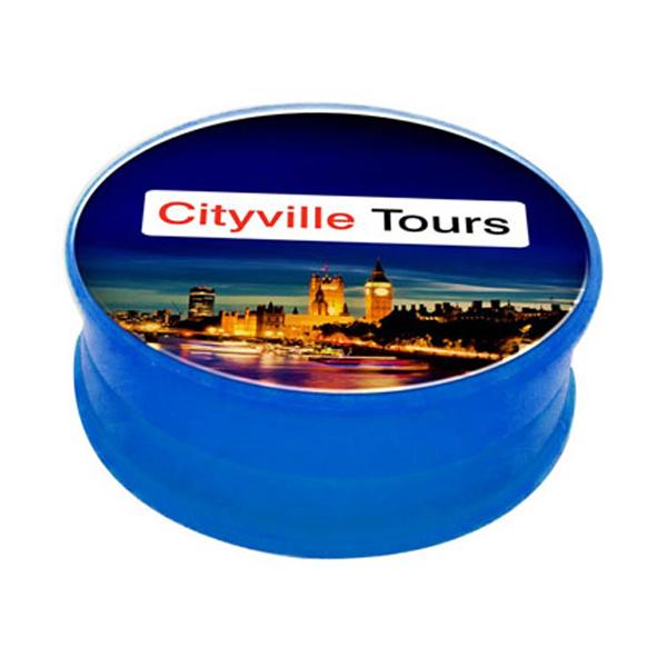 Lip Balm Pot in trans-blue
