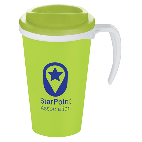 Americano Grande Thermal Mug in lime