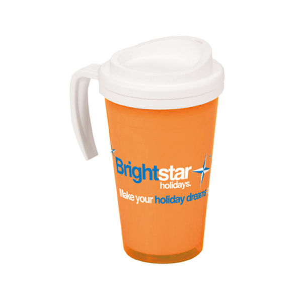 Americano Grande Thermal Mug in trans-orange