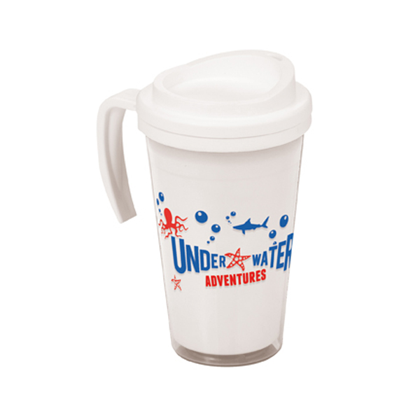 Americano Grande Thermal Mug in trans-white