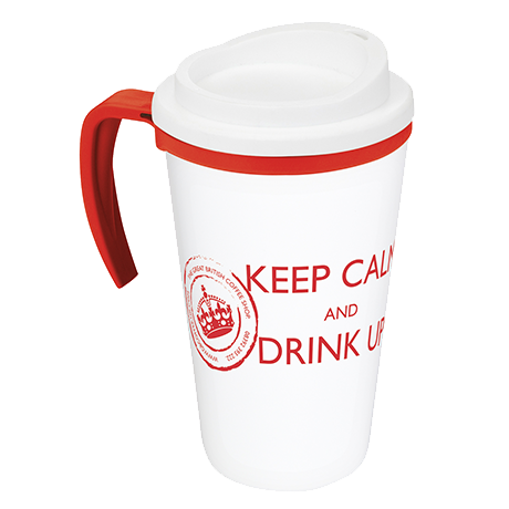 Americano Grande Thermal Mug in white