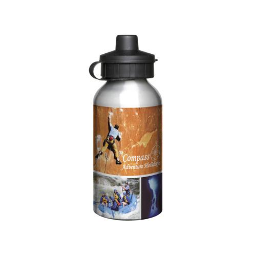 Aluminium 400ml Silver Drink Bottle