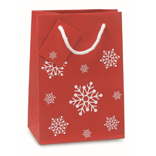 Gift paper bag small in red