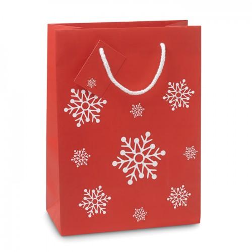 Gift paper bag medium in red
