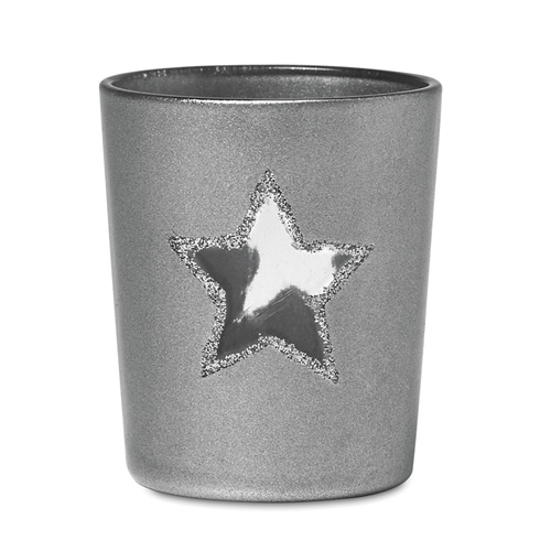 Candle holder with tealight in silver