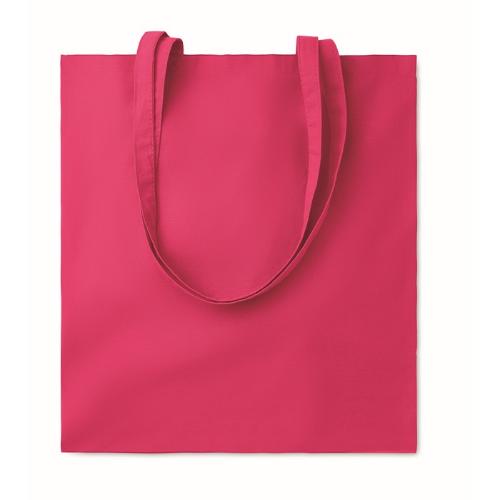 Shopping bag w/ long handles    in fuchsia