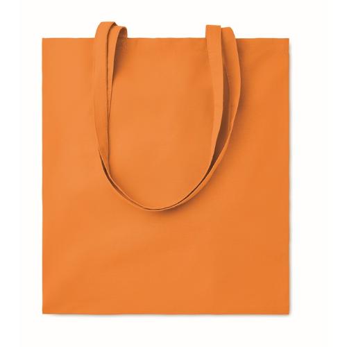Shopping bag w/ long handles    in orange