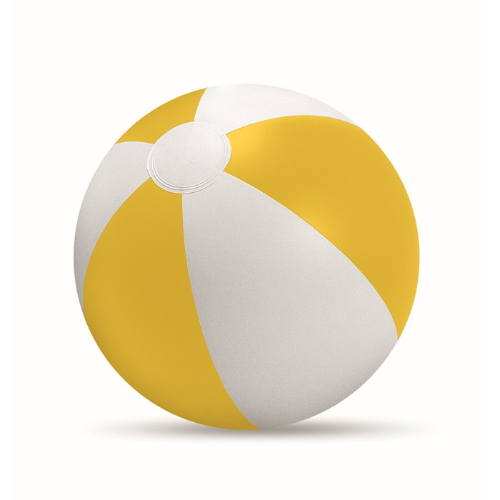 Inflatable beach ball in yellow