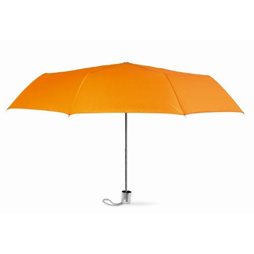 Mini umbrella with pouch in orange