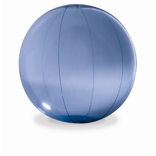 Transparent beach ball in blue