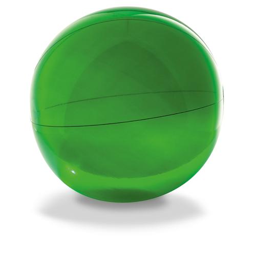 Transparent beach ball in green