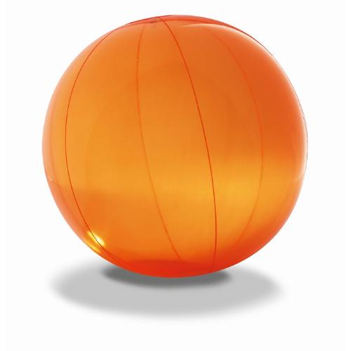 Transparent beach ball in orange