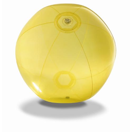 Transparent beach ball in yellow