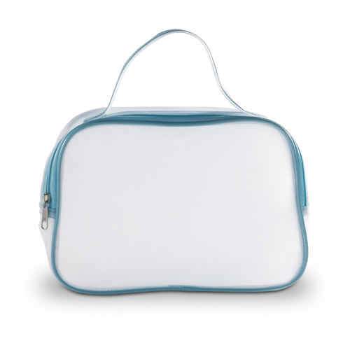 Transparent Cosmetic Bag in blue