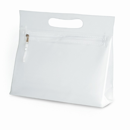 Transparent cosmetic pouch in transparent