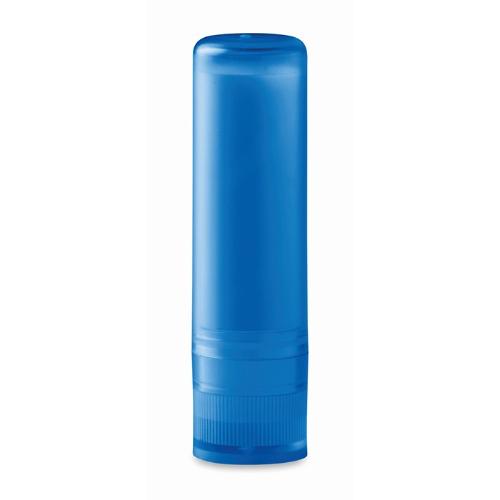 Lip balm in transparent-blue