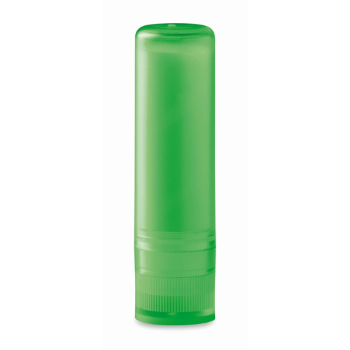Lip balm in transparent-lime