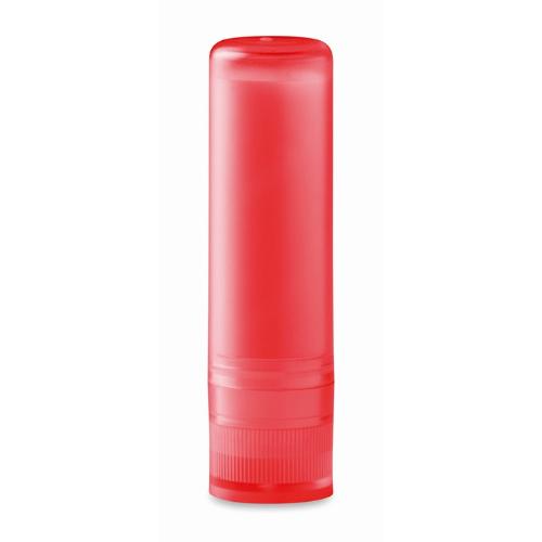 Lip balm in transparent-red