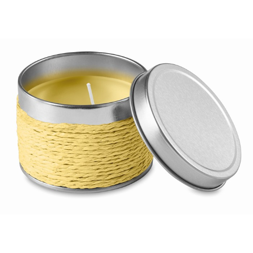 Fragrance candle                in yellow