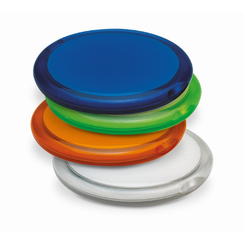Rounded double compact mirror in