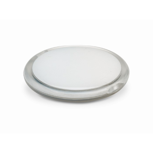 Rounded double compact mirror in transparent