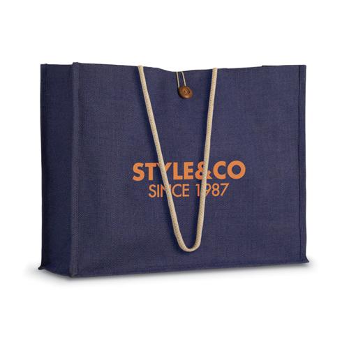 Jute Shopper Bag W/ Handles