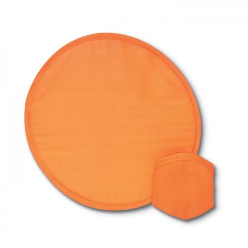 Foldable frisbee in pouch       in orange