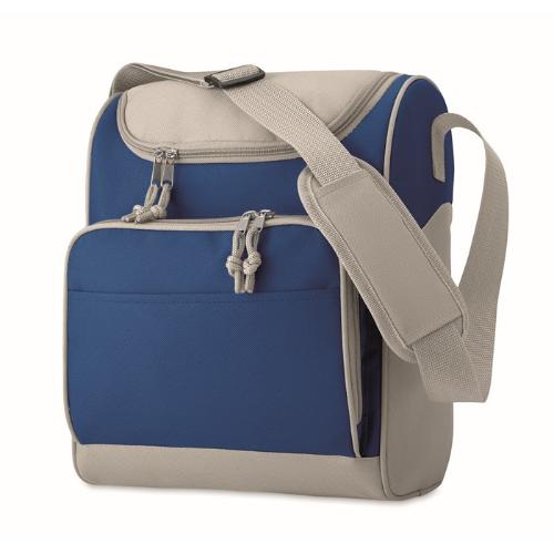 Cooler bag with front pocket in royal-blue