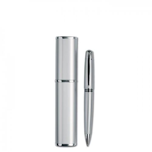 Metal Twist Ball Pen in silver