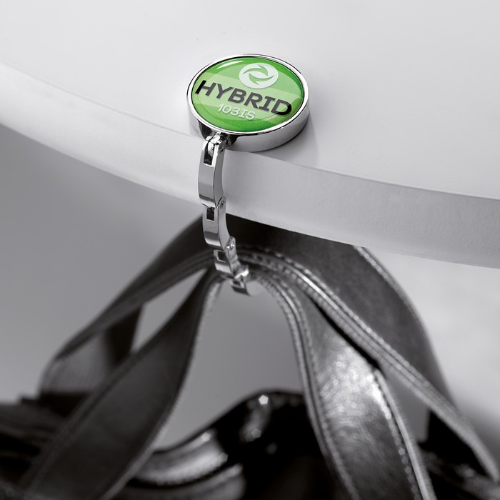 Handbag holder for your desk in silver