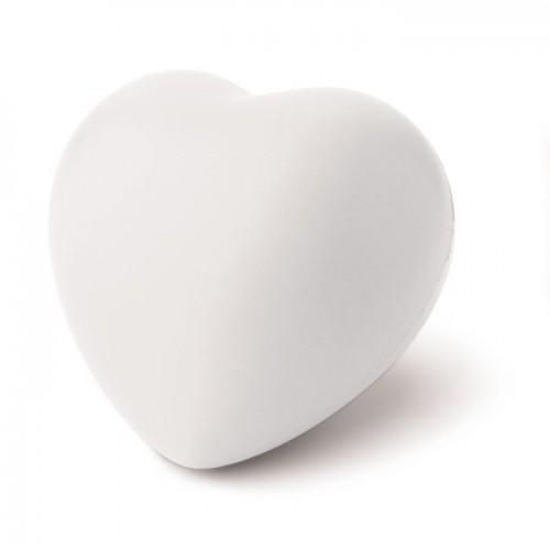 Anti-stress heart PU material in white