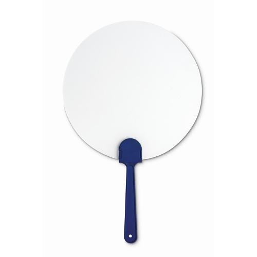 Manual hand fan in blue