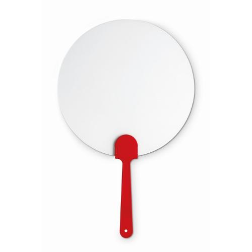 Manual hand fan in red