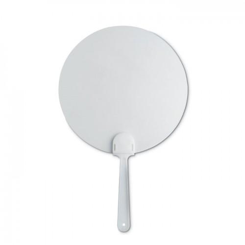 Manual hand fan in white