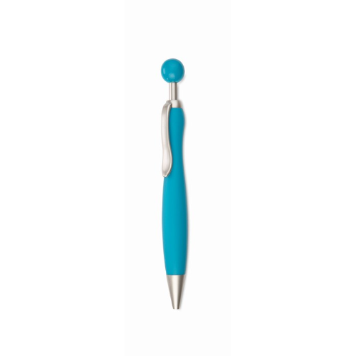 Ball Pen With Ball Plunger in baby-blue